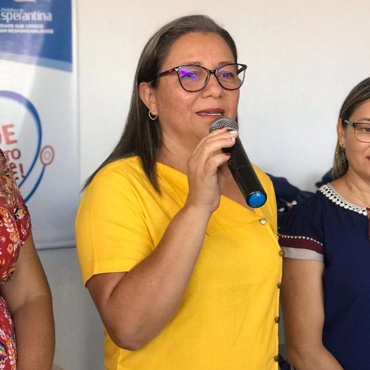 _Vilma Amorim, da Prefeitura de Esperantina (Foto: Divulgação)