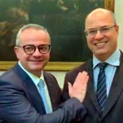 _Valter Alencar e o governador afastado do Rio de Janeiro Wilson Witzel (Imagem: Reprodução)